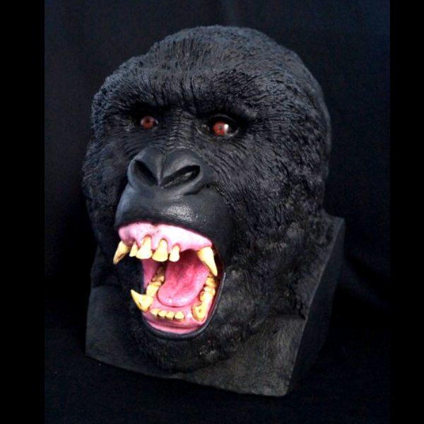 Silverback Gorilla Bust
